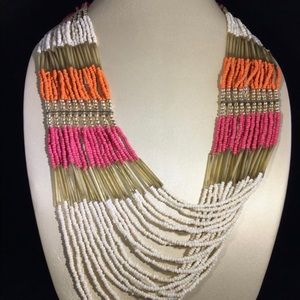 "22-24""Multi Color Seed Bead Necklace"
